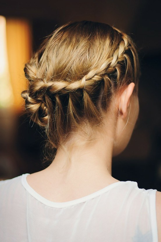 french braid wrapped