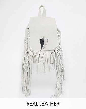 Suede-Fringed-Mini-Backpack