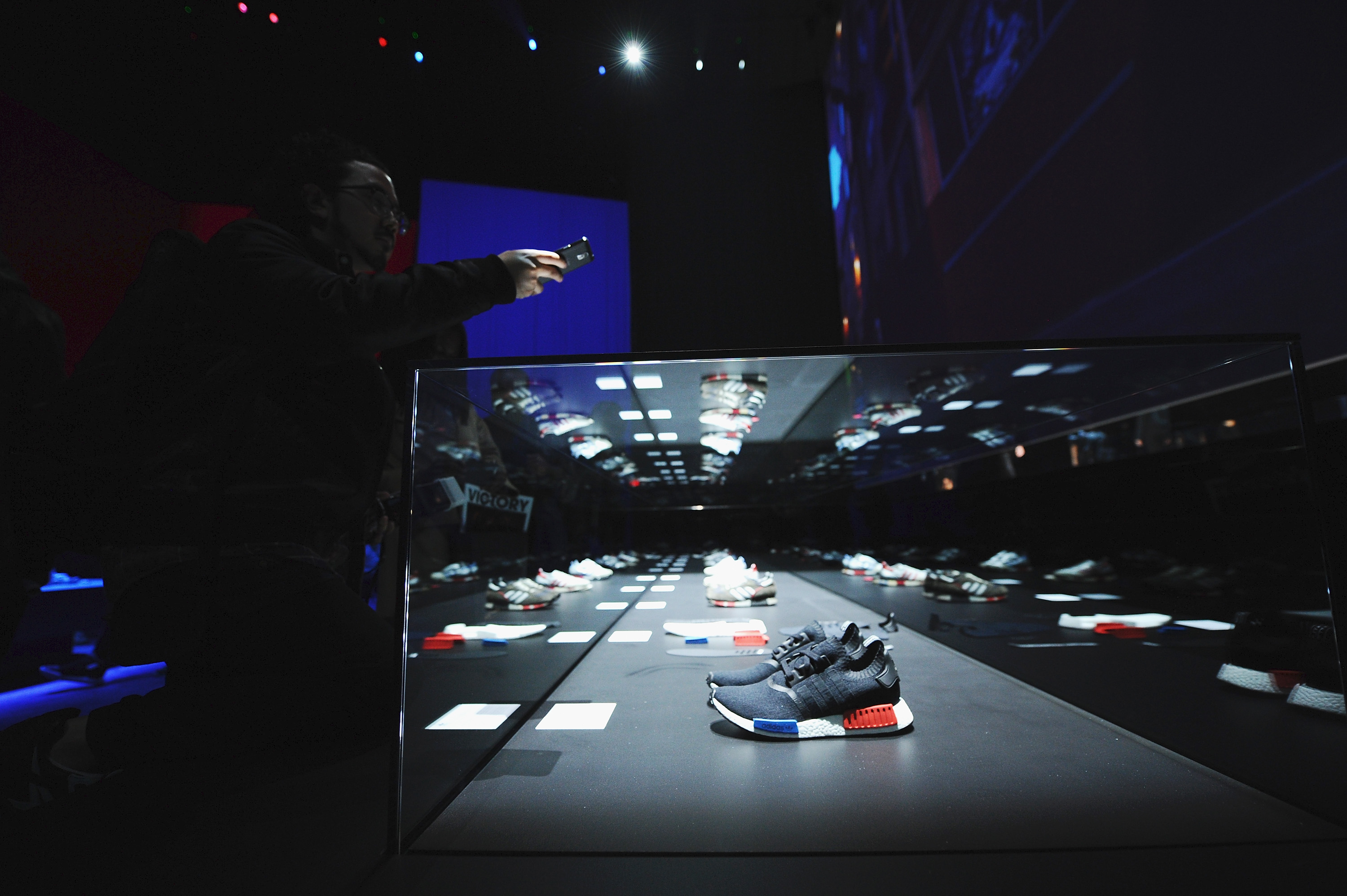 NEW YORK, NY - DECEMBER 09: A general view of atmosphere at the adidas Originals NMD global unveiling at the 69th Regiment Armory on December 9, 2015 in New York City. #NMD, #adidasOriginals (Photo by Ilya S. Savenok/Getty Images for adidas)