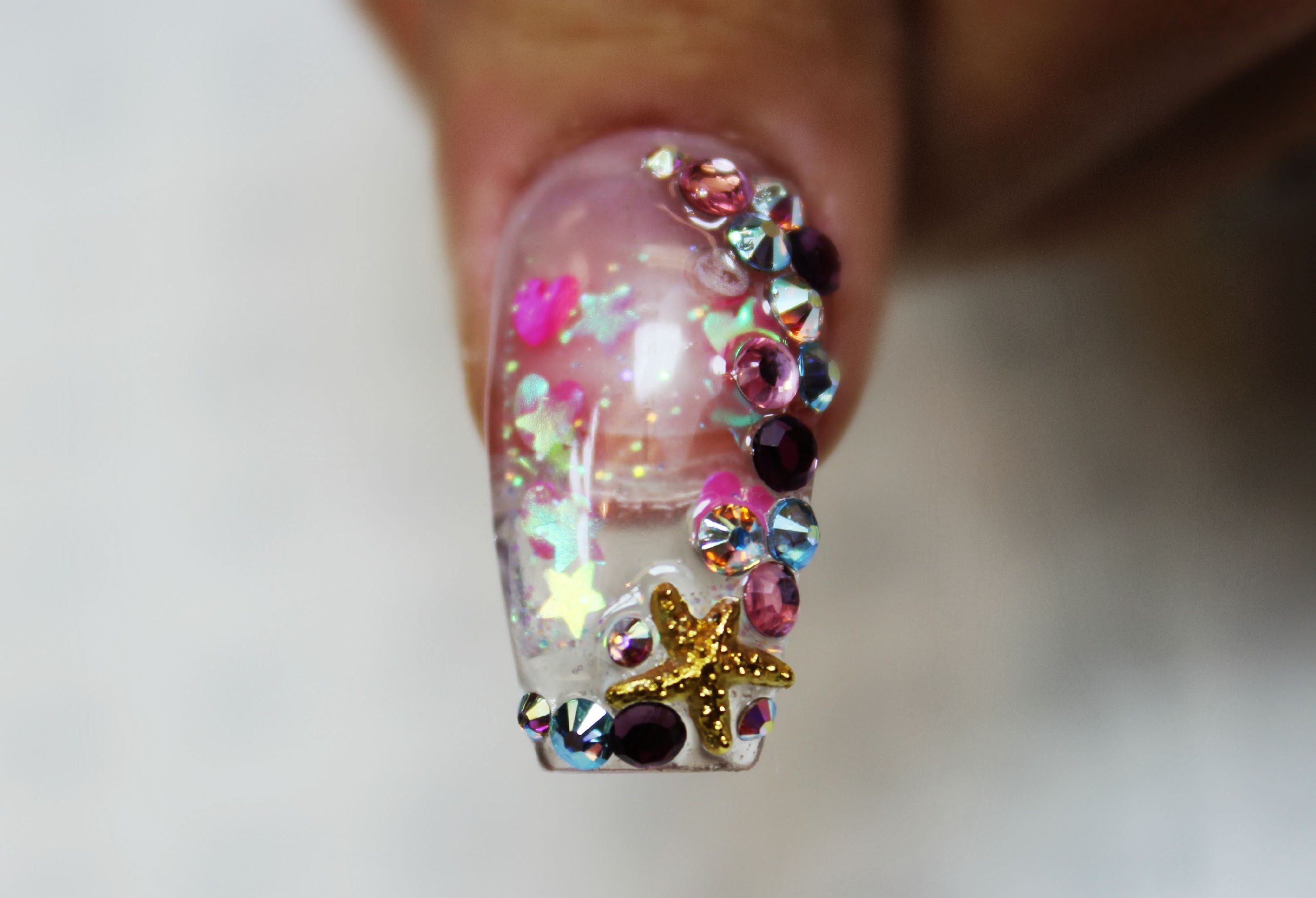 newest aquarium nail new technique ! one of the best ! - HD3000×2048