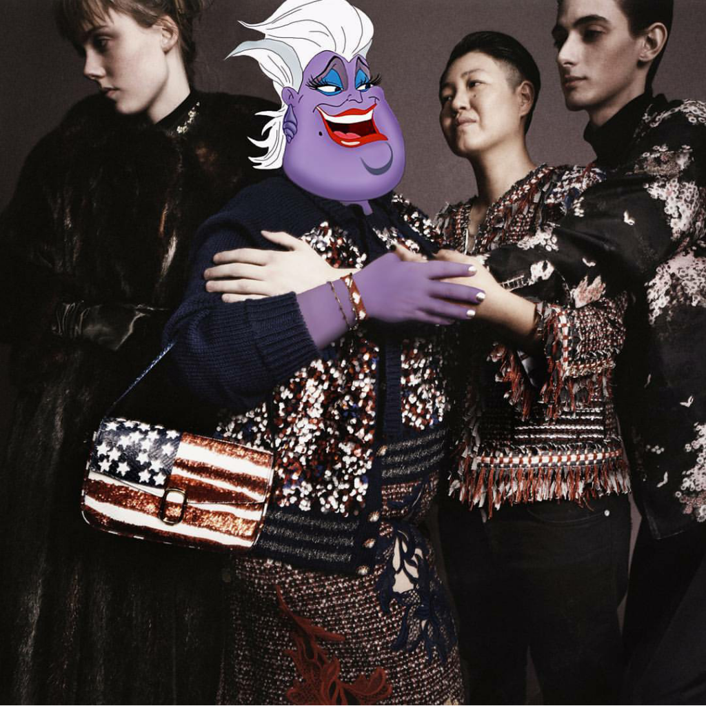 Ursula as @MaryBethDitto, @kdhwillems, Kristin Ogata and @horribletomato star in the @MarcJacobs SpringSummer 2016 ad campaign. @themarcjacobs Photographed by David Sims Photo edit by @Greg_gr styled by @kegrand, casting by @bitton, hair by @guidopalau, makeup by@diane.kendal, nails by @jinsoonchoi & set design by @stefanbeckman