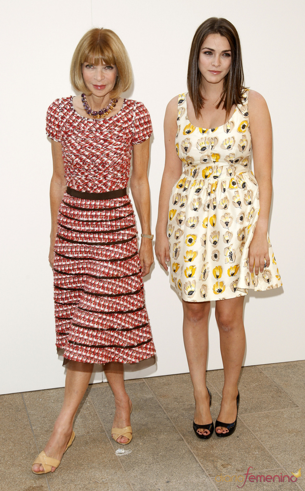"Vogue editor Anna Wintour and her daughter Bee Shaffer attend ""Fashion's Night Out: The Show"" at Lincoln Center in New York on Tuesday, Sept. 7, 2010. (AP Photo/Peter Kramer)"