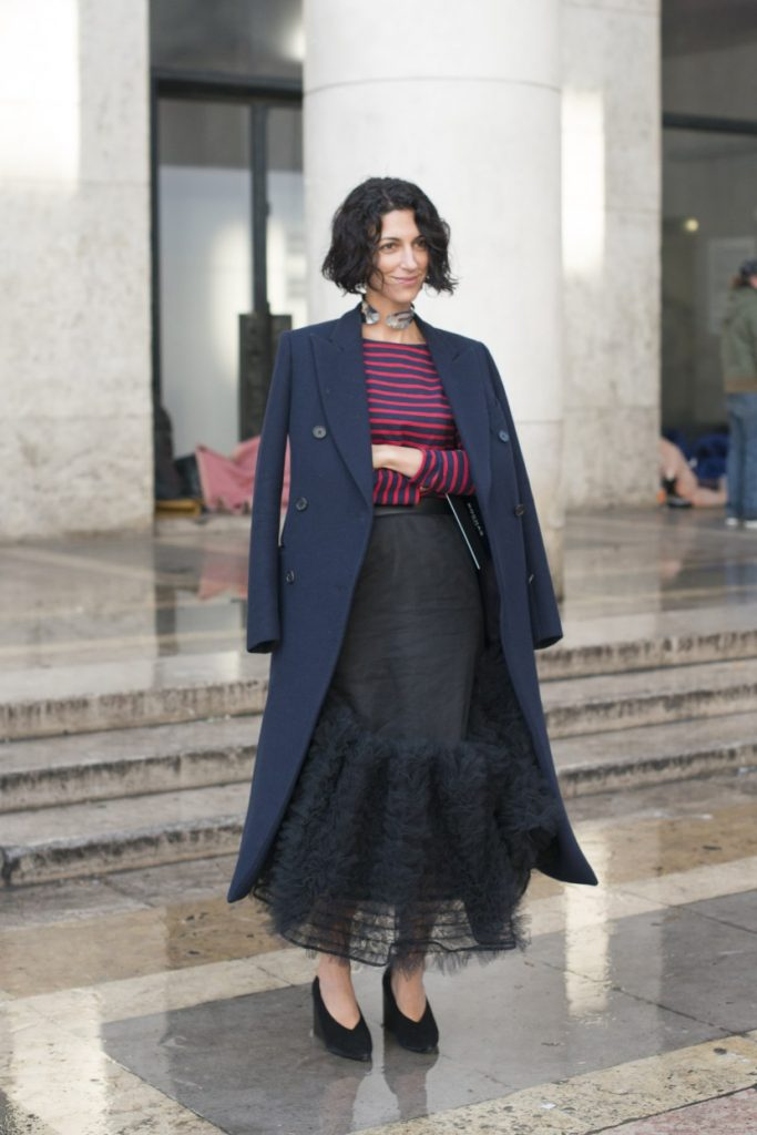 PARIS, FRANCE - MARCH 2: Fashion director style.com Yasmin Sewell on day 2 during Paris Fashion Week Autumn/Winter 2016/17 on March 2, 2016 in Paris, France. (Photo by Kirstin Sinclair/Getty Images)*** Local Caption *** Yasmin Sewell